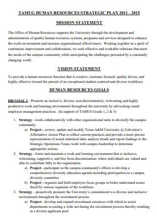 Standard Human Resources Strategic Plan
