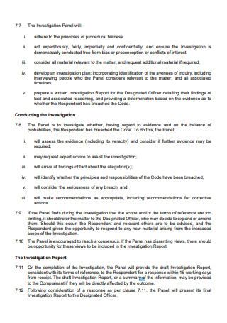 Standard Research Investigation Report