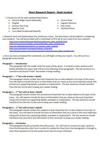 Standard Short Research Report