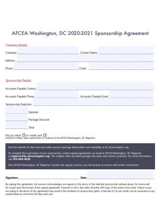 Standard Sponsorship Contract