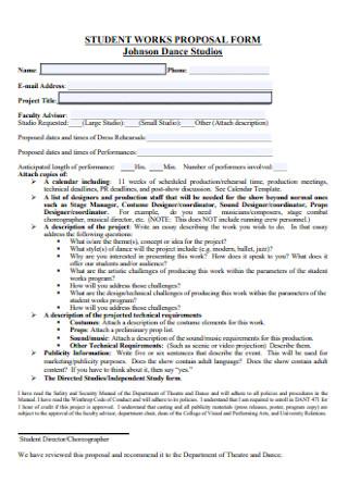 Student Dance Proposal