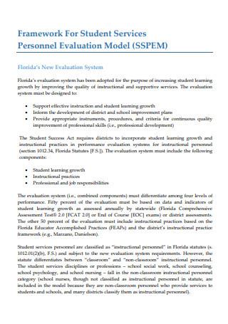 Student Services Personnel Evaluation Model