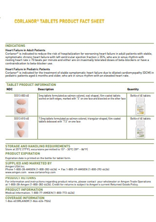 Tablets Product Fact Sheet