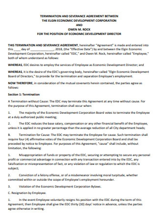 Termination and Severance Agreement