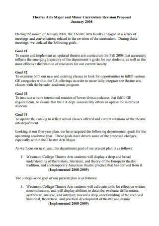 Theatre Curriculum Revision Proposal
