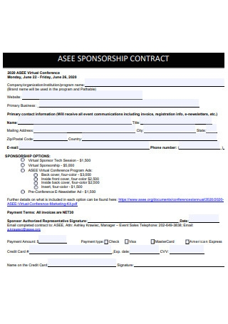Virtual Conference Sponsorship Contract1