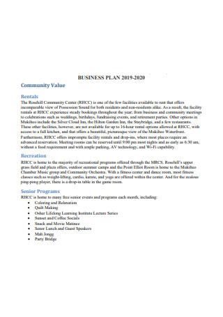 Yoga Business Plan in PDF