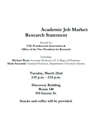 Academic Job Market Research Statement