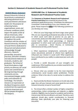 Academic Research and Professional Goals Statement