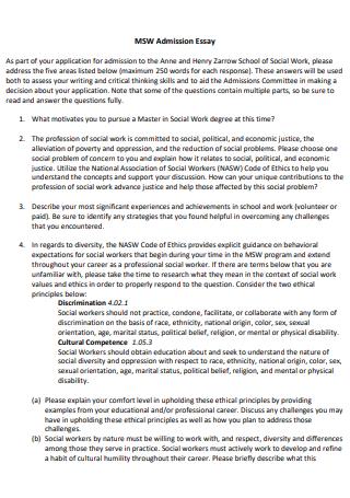 Admission Essay in PDF