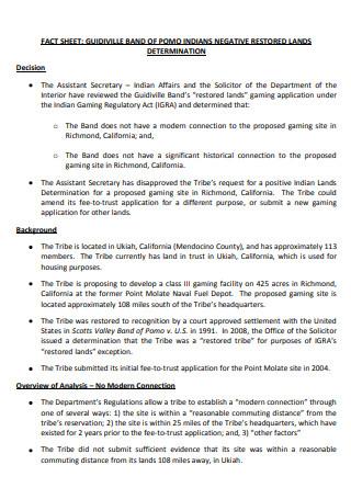 Band Fact Sheet in PDF