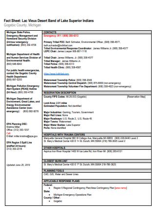 Band of Lake Superior Fact Sheet