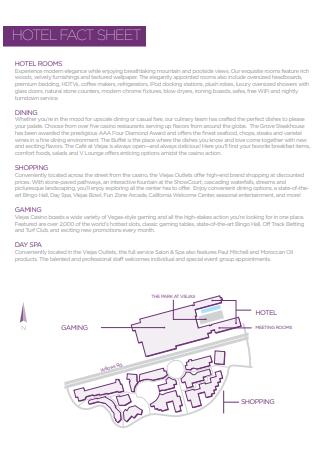 Basic Hotel Fact Sheet