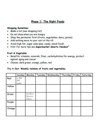 Basic Nutrition Action Plan