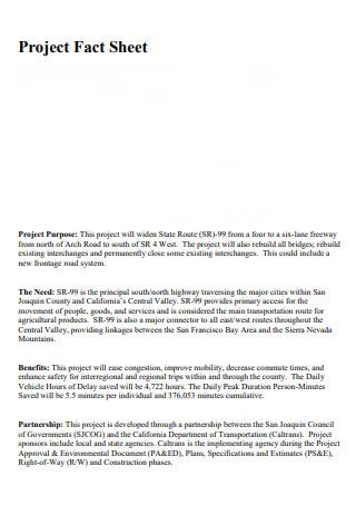 Basic Project Fact Sheet