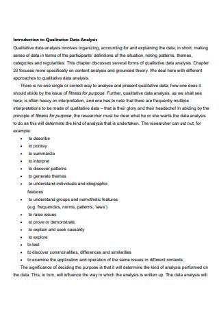 Basic Qualitative Data Analysis