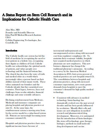 Basic Research Status Report