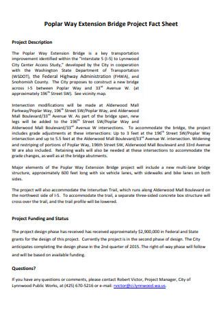 Bridge Project Fact Sheet
