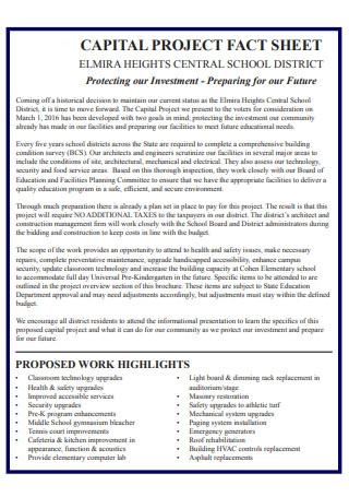 Capital Project Fact Sheet