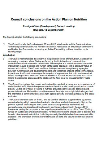Council Nutrition Action Plan