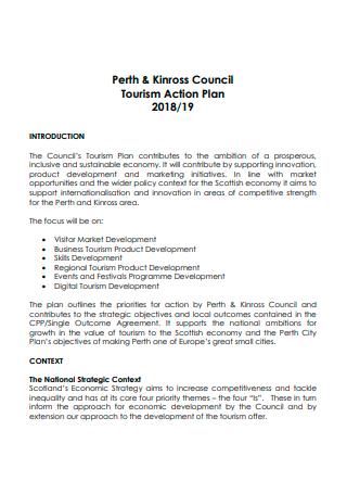 Council Tourism Action Plan