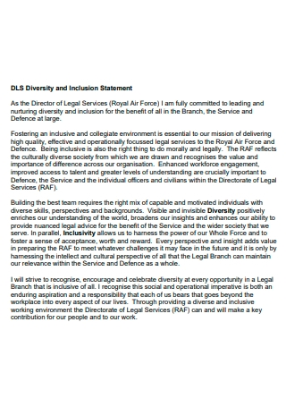 Diversity and Inclusion Statement Format