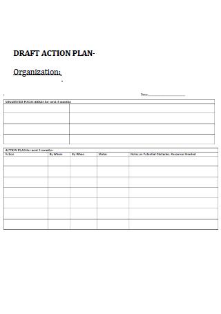 Draft Organization Action Plan Template