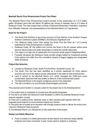 Enhancement Project Fact Sheet