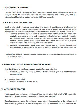 Environmental Landscape Analysis Proposal