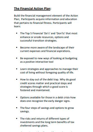 Financial Action Plan Example