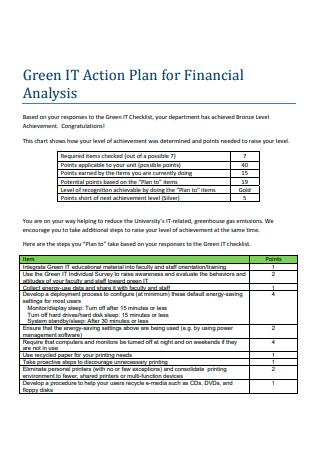 Financial Analysis Action Plan