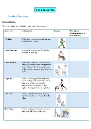 Fitness Plan Format