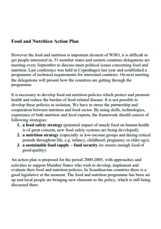 Food and Nutrition Action Plan
