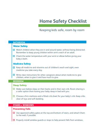 Formal Home Safety Checklist