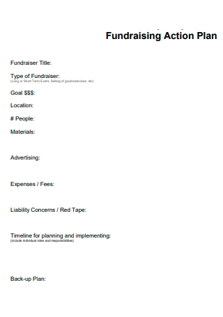 Fundraising Action Plan Template