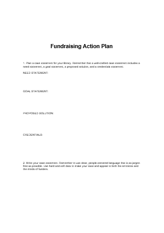 Fundraising Action Plan in DOC