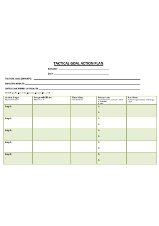 Goal Action Plan in DOC
