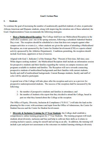 Goal Action Plan in PDF