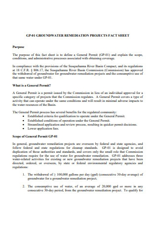 Ground Water Project Fact Sheet
