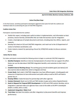 Integration Workshop Action Plan