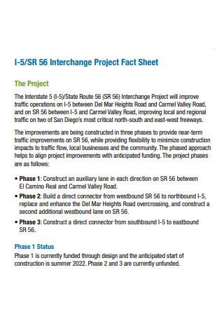 Interchange Project Fact Sheet