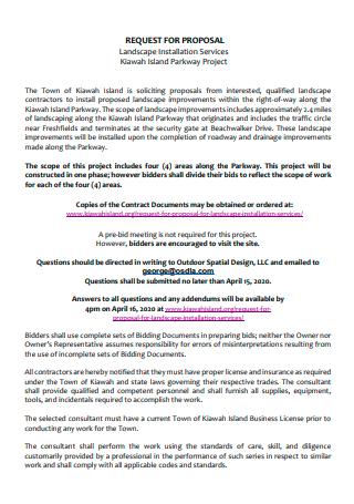 Landscape Installation Services Proposal