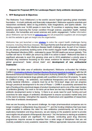 Landscape Report Request Form Proposal