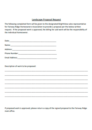 Landscape Request Proposal