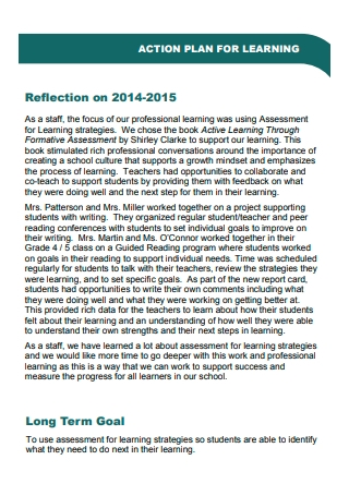 Learning Action Plan in PDF