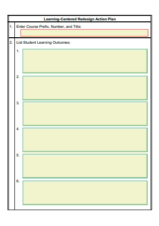 Learning Centered Redesign Action Plan