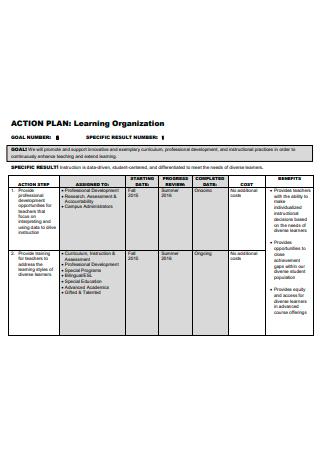Learning Organization Action Plan