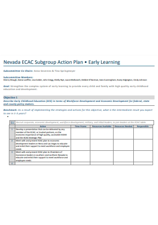Learning Sub Group Action Plan