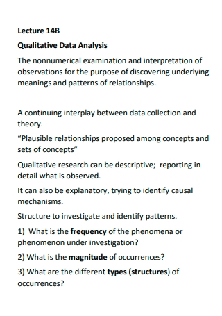 Lecture Qualitative Data Analysis
