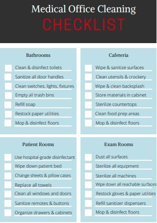 Medical Office Cleaning Checklist
